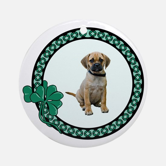 Irish Puggle Ornament (Round)