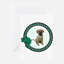 Irish Puggle Greeting Card