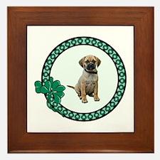 Irish Puggle Framed Tile