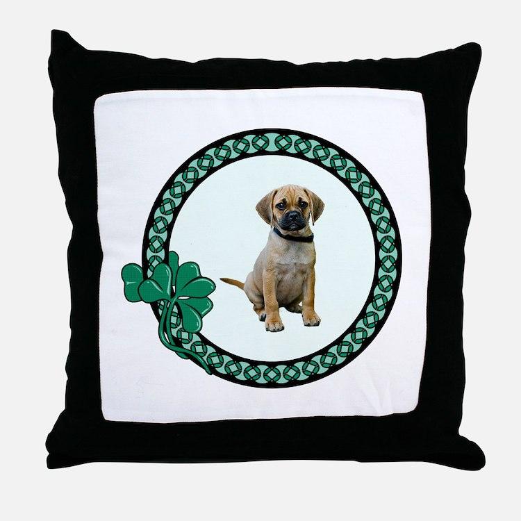 Irish Puggle Throw Pillow