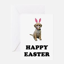 Easter Bunny Puggle Greeting Card
