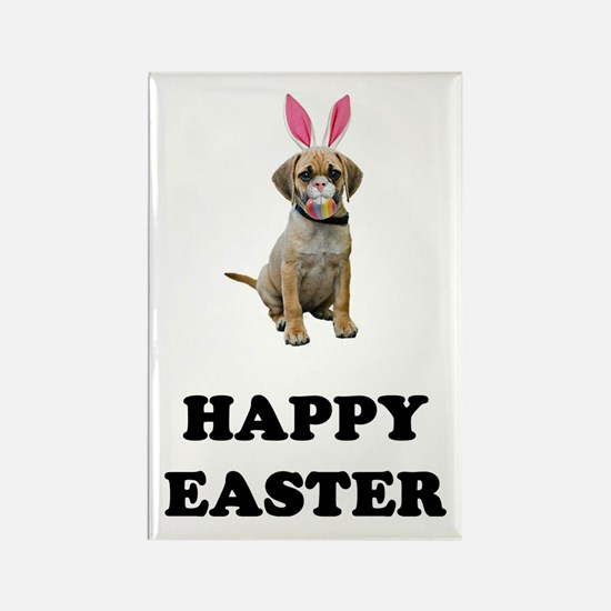 Easter Bunny Puggle Rectangle Magnet