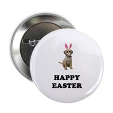 """Easter Bunny Puggle 2.25"""" Button"""