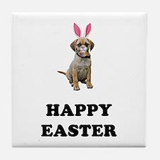 Easter Bunny Puggle Tile Coaster