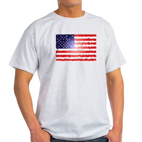 American Flag Old Glory Patri Light T-Shirt