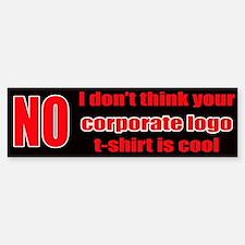 No Corporate Logo Bumpersticker