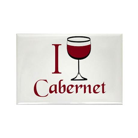 Cabernet Wine Drinker Rectangle Magnet
