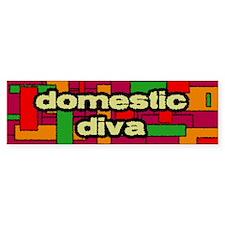 Domestic Diva Bumpersticker (warm colors)