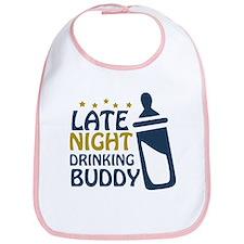 Late Night Drinking Buddy Bib