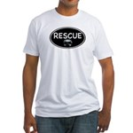 Rescue Nose Black Oval Fitted T-Shirt