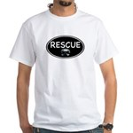 Rescue Nose Black Oval White T-Shirt
