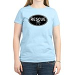 Rescue Nose Black Oval Women's Light T-Shirt