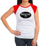 Rescue Nose Black Oval Women's Cap Sleeve T-Shirt