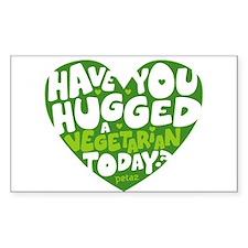 Hug a Vegetarian Decal