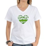 Hug a Vegetarian Women's V-Neck T-Shirt