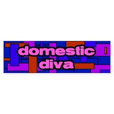 Domestic Diva Bumpersticker (blue)