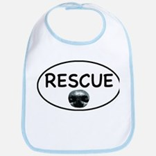 Rescue Nose White Oval Bib