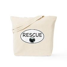 Rescue Nose White Oval Tote Bag