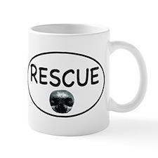 Rescue Nose White Oval Mug