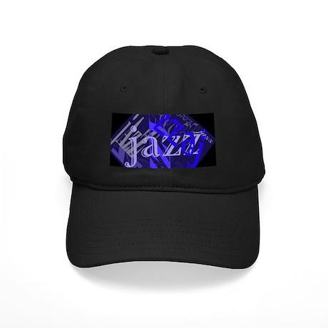 Jazz Black and Blue Black Cap