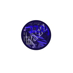 Jazz Black and Blue Mini Button (10 pack)