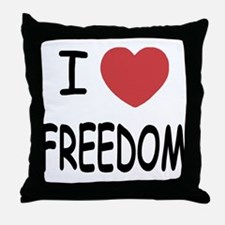 I heart freedom Throw Pillow