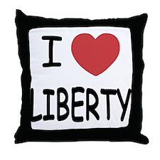I heart liberty Throw Pillow