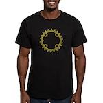 ChainRing Men's Fitted T-Shirt (dark)