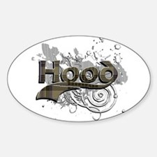 Hood Tartan Grunge Sticker (Oval)