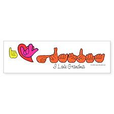 I-L-Y Grandma Bumper Sticker