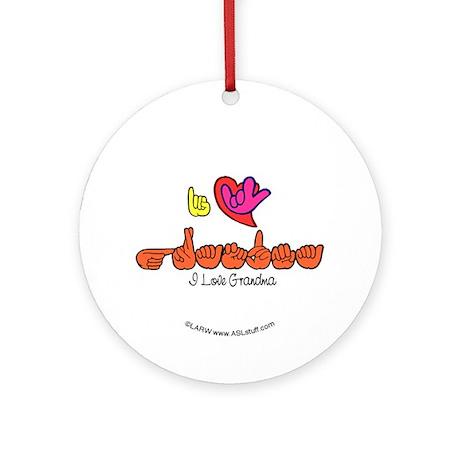 I-L-Y Grandma Ornament (Round)