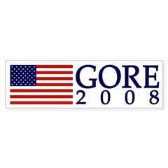 American Flag Gore 2008 bumper sticker