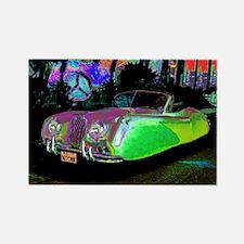 Funny Cars jaguar Rectangle Magnet