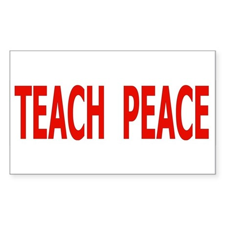 Sticker (Rectangle) TEACH PEACE