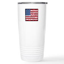 USA Flag Stainless Steel Travel Mug