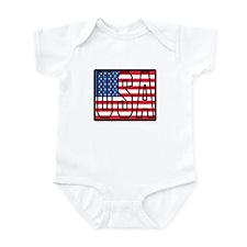 USA Flag Infant Bodysuit