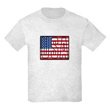 USA Flag Kids Light T-Shirt