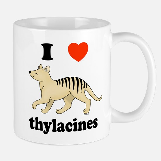 I Love Thylacines Mug