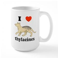 I Love Thylacines Ceramic Mugs