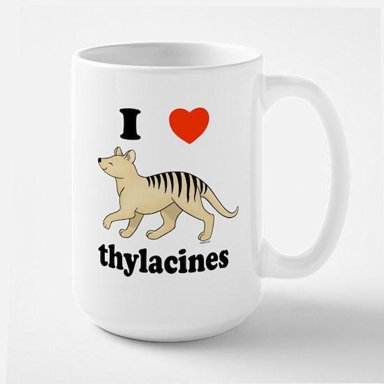 I Love Thylacines Large Mug