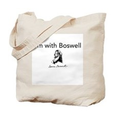I'm With Boswell Tote Bag