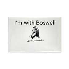I'm With Boswell Rectangle Magnet