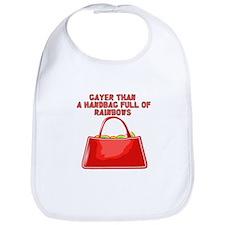 Hand bag of rainbows Bib