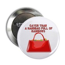 """Hand bag of rainbows 2.25"""" Button (10 pack)"""