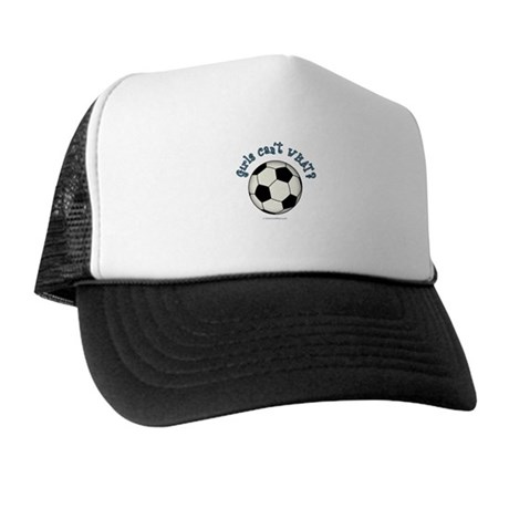 Black Soccer Ball Trucker Hat