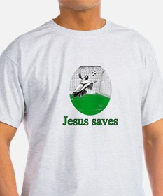 Jesus saves a goal T-Shirt