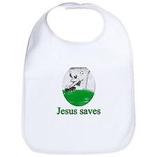 Jesus saves a goal Bib