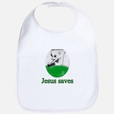 Jesus saves a goal Bib