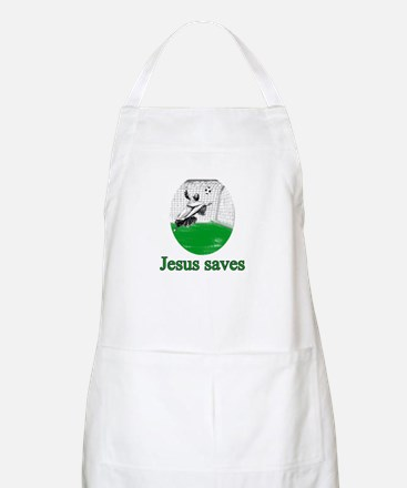 Jesus saves a goal Apron