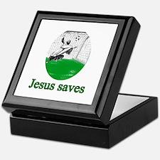 Jesus saves a goal Keepsake Box